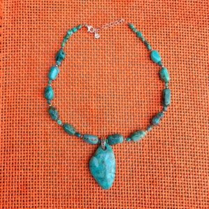 Barse Sterling Turquoise Necklace Pendant